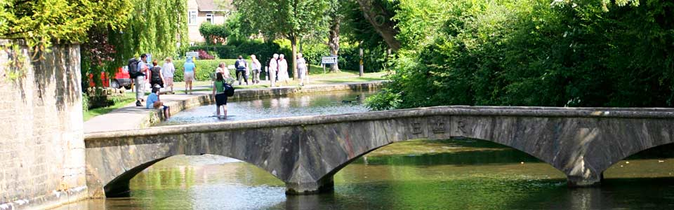 One of the many low bridges in Bourton on the Water