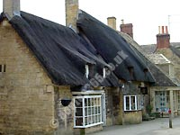 Thatched buildings on