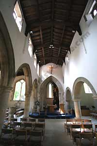 The modern Interior of  St Mary the Virgin in Charlbury