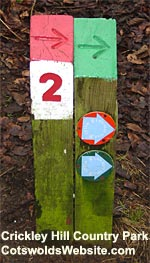 Markers at Crickley Hill Country Park