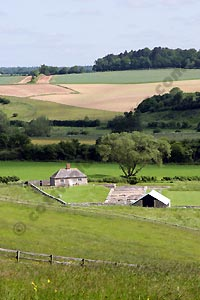A distant view of North Leigh Roman Villa