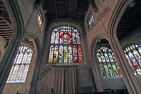 Stained glass windows in St Mary's church Fairford